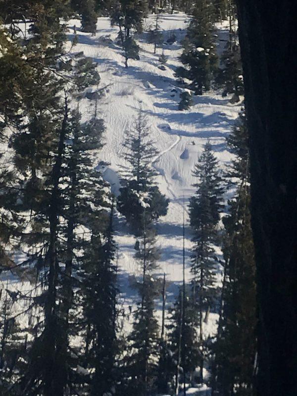 Pin rolls/pin wheels on a west aspect in steeper terrain.